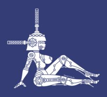 Mud Flap Robot Girl by JoesGiantRobots