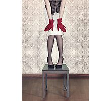 red gloves Photographic Print