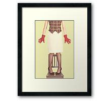 red gloves Framed Print