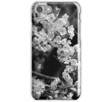 Cherry Blossom (BW) iPhone Case/Skin
