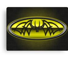 Classic Yellow & Black Batman Tribal Canvas Print