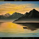 Lake and Mountains by Patrick  McMullen
