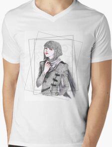Androgynous Mens V-Neck T-Shirt