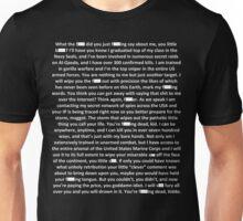 Gorilla Warfare (Navy SEAL copypasta in White) Unisex T-Shirt