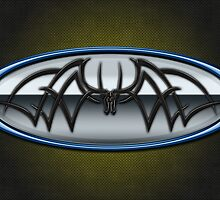 Classic Blue & Grey Batman Tribal by joshjen10