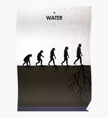 99 Steps of Progress - Water Poster