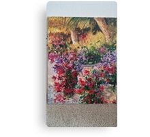 Flowers by Corona del Mar oil painting Canvas Print