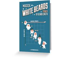 Magical White Beards Greeting Card