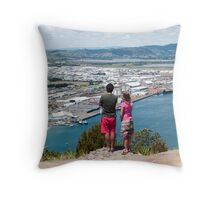the sights Throw Pillow