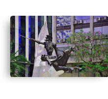 Don Quijote de la Mancha y Rocinante............... Canvas Print