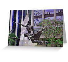 Don Quijote de la Mancha y Rocinante............... Greeting Card