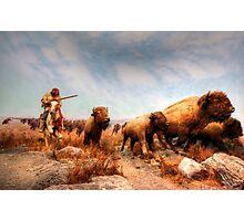 Buffalo Hunt Photographic Print