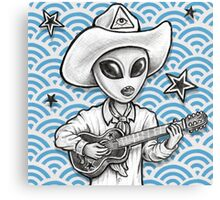'The Space Cowboy' Canvas Print