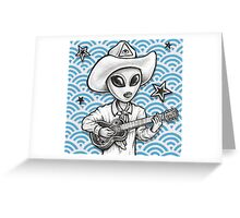 'The Space Cowboy' Greeting Card