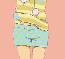 K-On!! - Yui Hirasawa - Pajamas (RENDER) by frictionqt