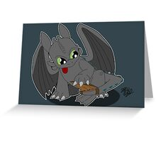 Toothless' new Tail Greeting Card