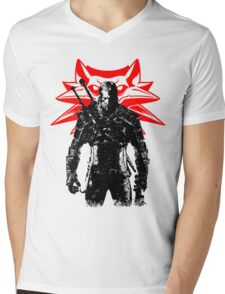 The White wolf Mens V-Neck T-Shirt