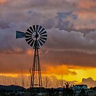 Windmill at Sunset - Chino Valley, Arizona by Mary Warner