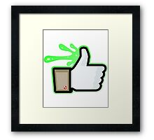 FACEBOOK X GHOSTBUSTERS (GB1 SLIMED) Framed Print