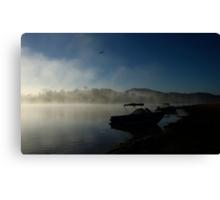 Foggy Dawn Lake Moogerah Canvas Print