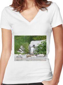 Humboldt Penguin Women's Fitted V-Neck T-Shirt