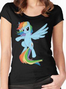 Rainbow Dashing Women's Fitted Scoop T-Shirt