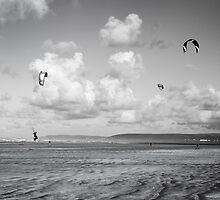 Kite Boarders by John Burtoft