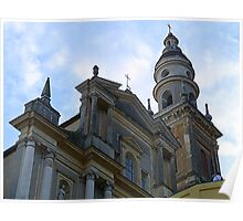 Saint Michel Basilica in Menton Poster