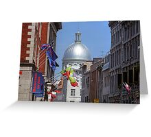 Montreal Dome of Marche Bonsecours Greeting Card