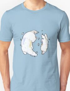 Polar Bear and Cub, taking a swim. T-Shirt