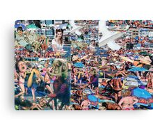 Crowded Beach 2. Canvas Print