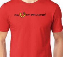 Make Love Not Sonic Blasters Unisex T-Shirt
