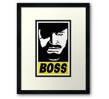 Obey the Boss Framed Print