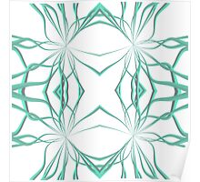 Teal Curves Poster