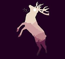 Midnight Reindeer (Purple) - Iphone Case  by sullat04
