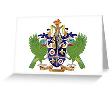 Coat of Arms of Saint Lucia  Greeting Card