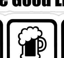 Flying Beer Sex The Good Life Sticker