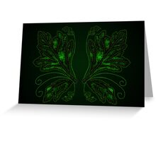 Green Fire Wings Greeting Card