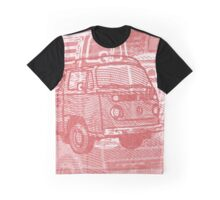 Red Bay Campervan Montage Graphic T-Shirt