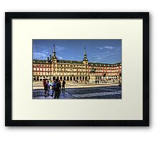 The place to be in Madrid Framed Print