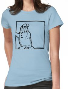 Penguin Black Womens Fitted T-Shirt