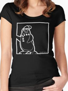 Penguin White Women's Fitted Scoop T-Shirt