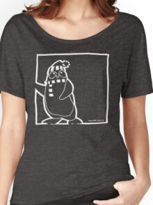 Penguin White Women's Relaxed Fit T-Shirt