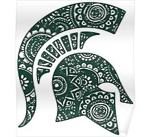 Michigan State Doodle Poster