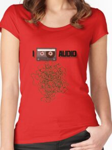 I [ANALOG] AUDIO Women's Fitted Scoop T-Shirt