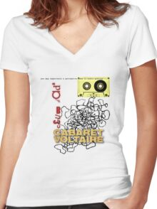 club dada - cabaret voltaire [tape spaghetti] Women's Fitted V-Neck T-Shirt