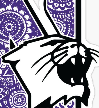 Northwestern Doodle Sticker