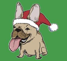 Frenchie Clause French Bulldog Kids Tee
