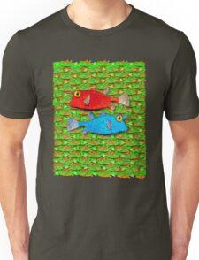 red fish - blue fish Unisex T-Shirt