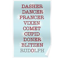 Reindeer Games Blue Poster